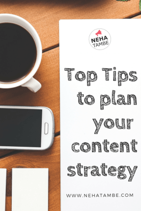 Top tips to keep in mind when planning a content strategy