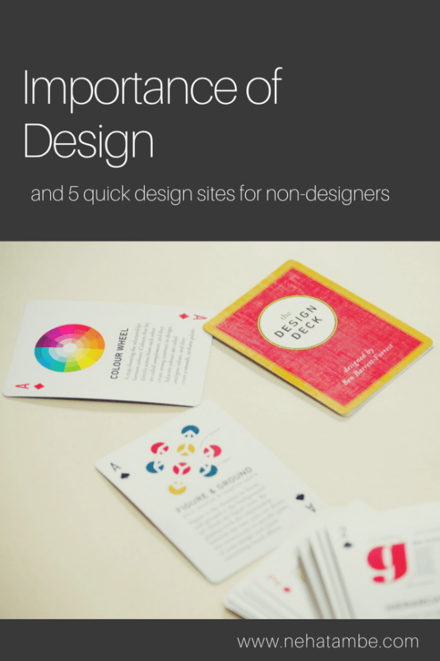 The importance of design and 5 tools for non designers