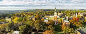 An aerial photograph of Dartmouth College.