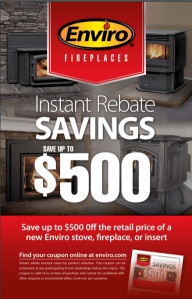 flyer for fireplace sale