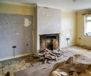 removal of fireplace