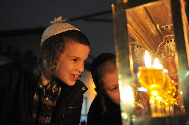 The chanukah candle lights us from within as well as from without. Rabbi Baruch Shalom Ashlag