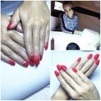 Gelové nehty červené
