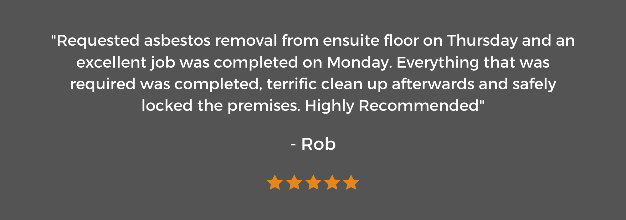 5 Star Review from Rob