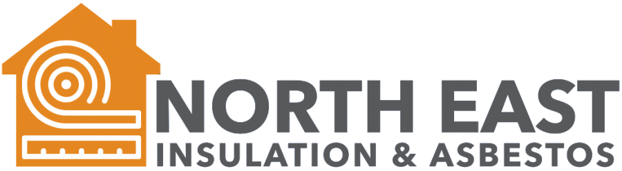 North East Insulation & Asbestos Text with Orange Logo