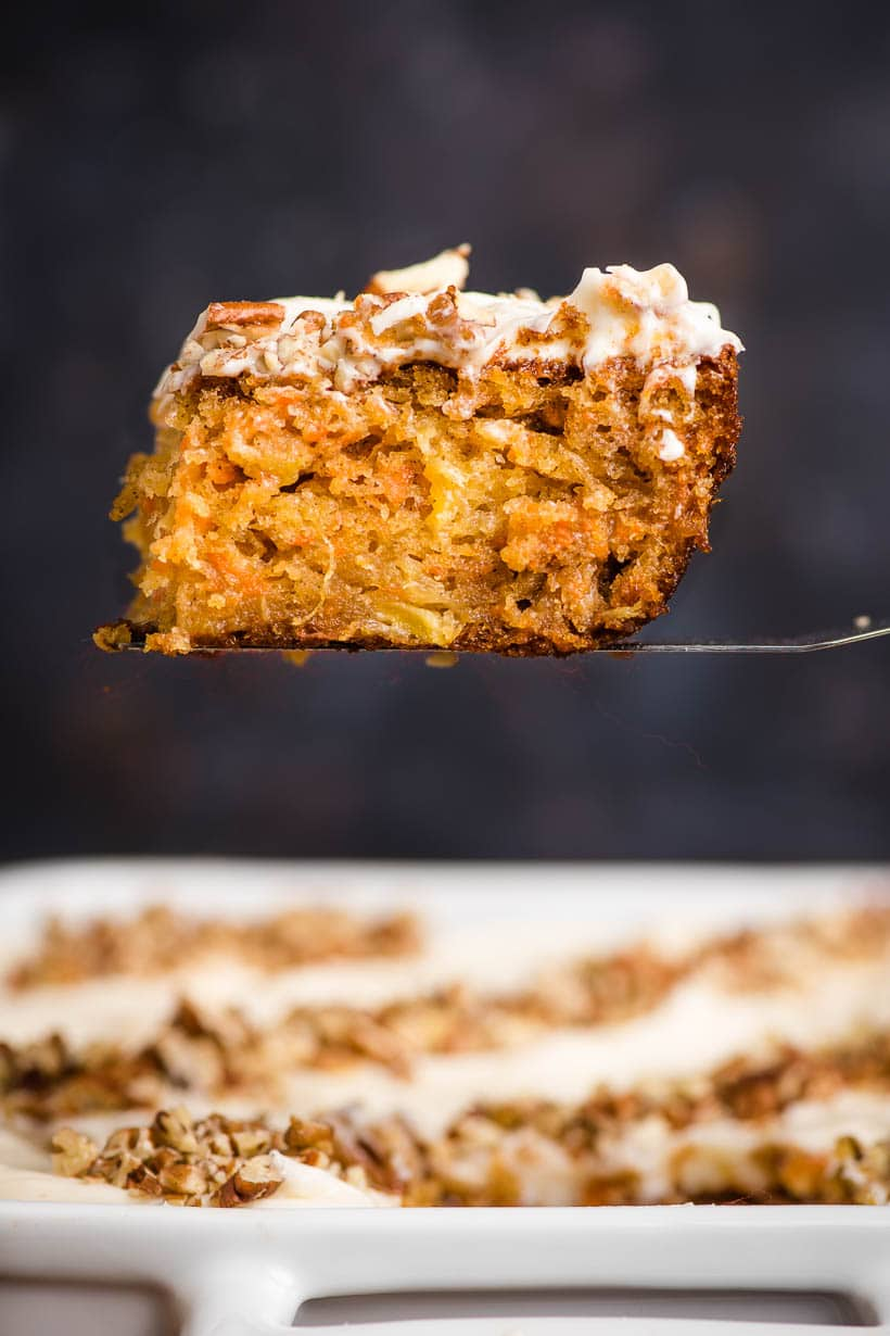 Super Moist Carrot Sheet Cake With Cream Cheese Frosting
