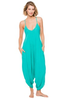 Elan International genie jumpsuit in Jade, $78, at Everything But Water, Somerset Collection, Troy.