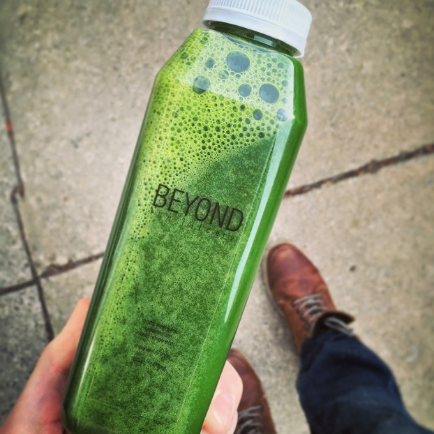 "Beyond Juice suggests ""newbies"" start with green juices that have underlying fruit tones of apple and citrus."