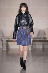 Leather jackets and plaid at Louis Vuitton Fall 2017.