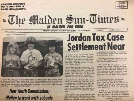 When do you remember having a Jordan Marsh in Malden?