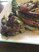 Colorful veggie with chimichurri
