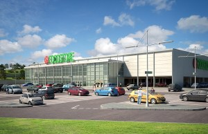 Proposed food store at Carnbane Way, Newry