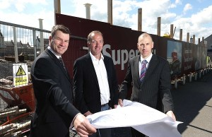 Pictured with Gabriel Bell (centre) is SuperValu sales director of MRPNI Nigel Maxwell and SuperValu business development manager Brian Ross