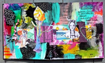 Collage mixed media