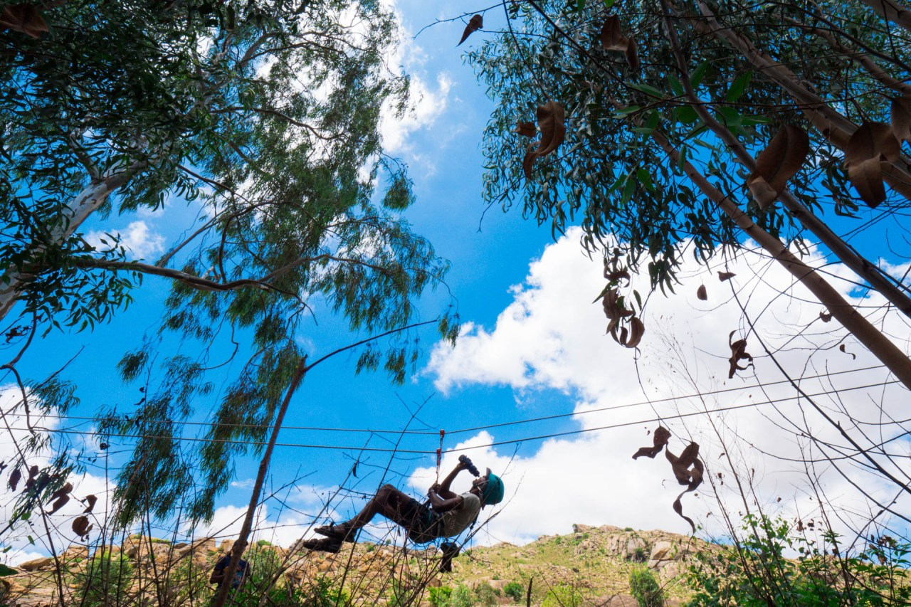 Tyrolean Traverse training
