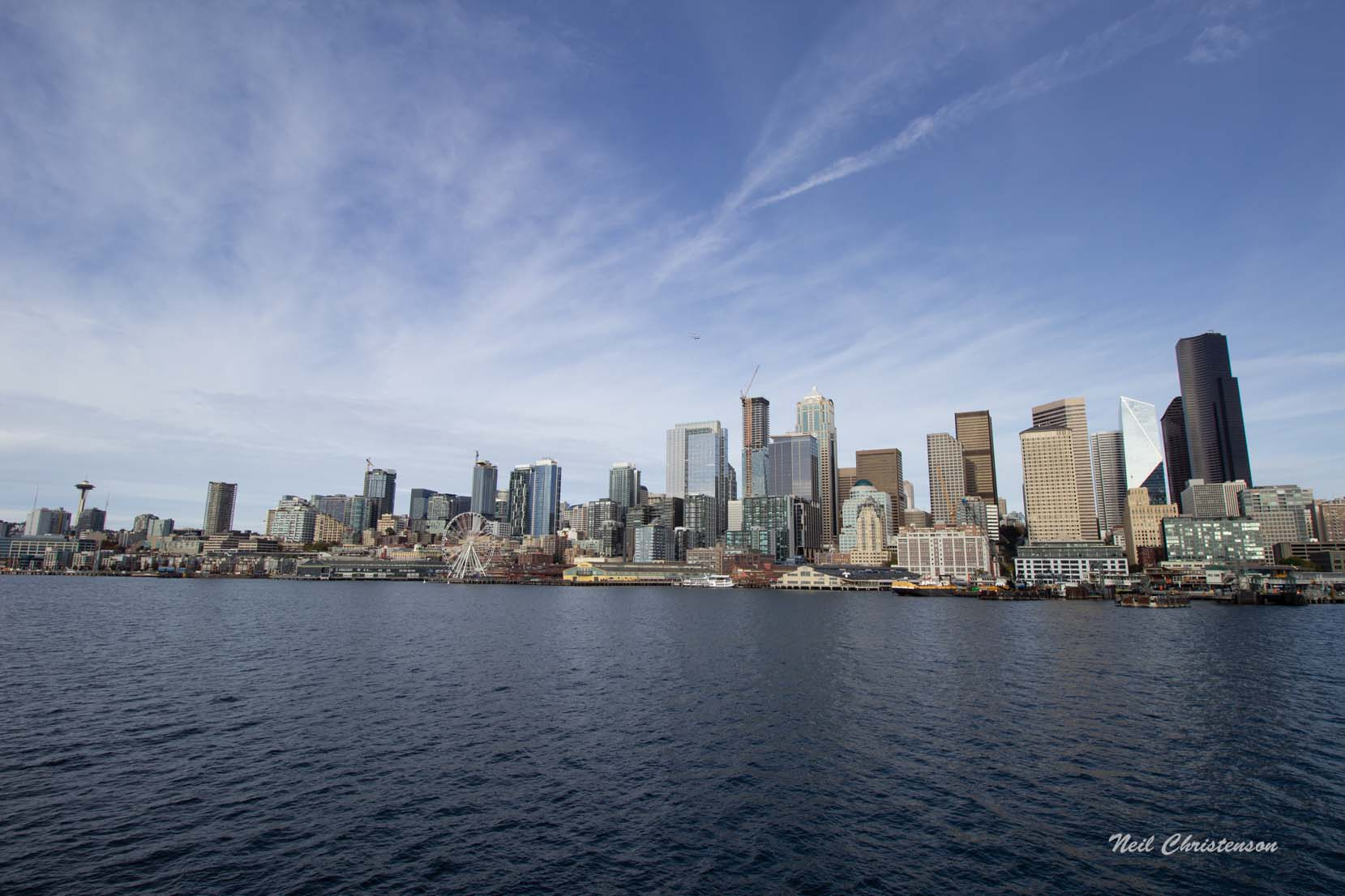 Seattle skyline from the water.