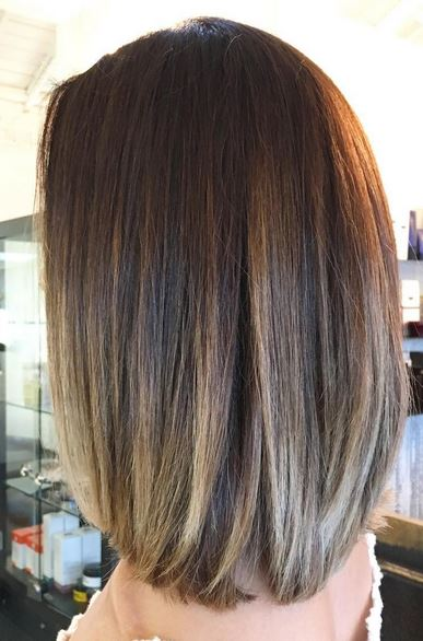Brunette Highlights And Long Layers Neil George
