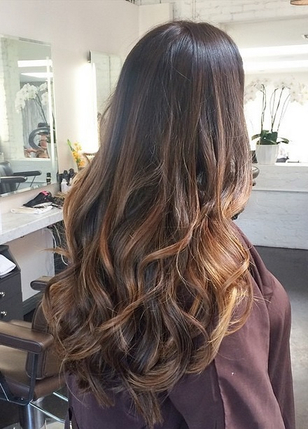 Brunette With Caramel Highlights Neil George