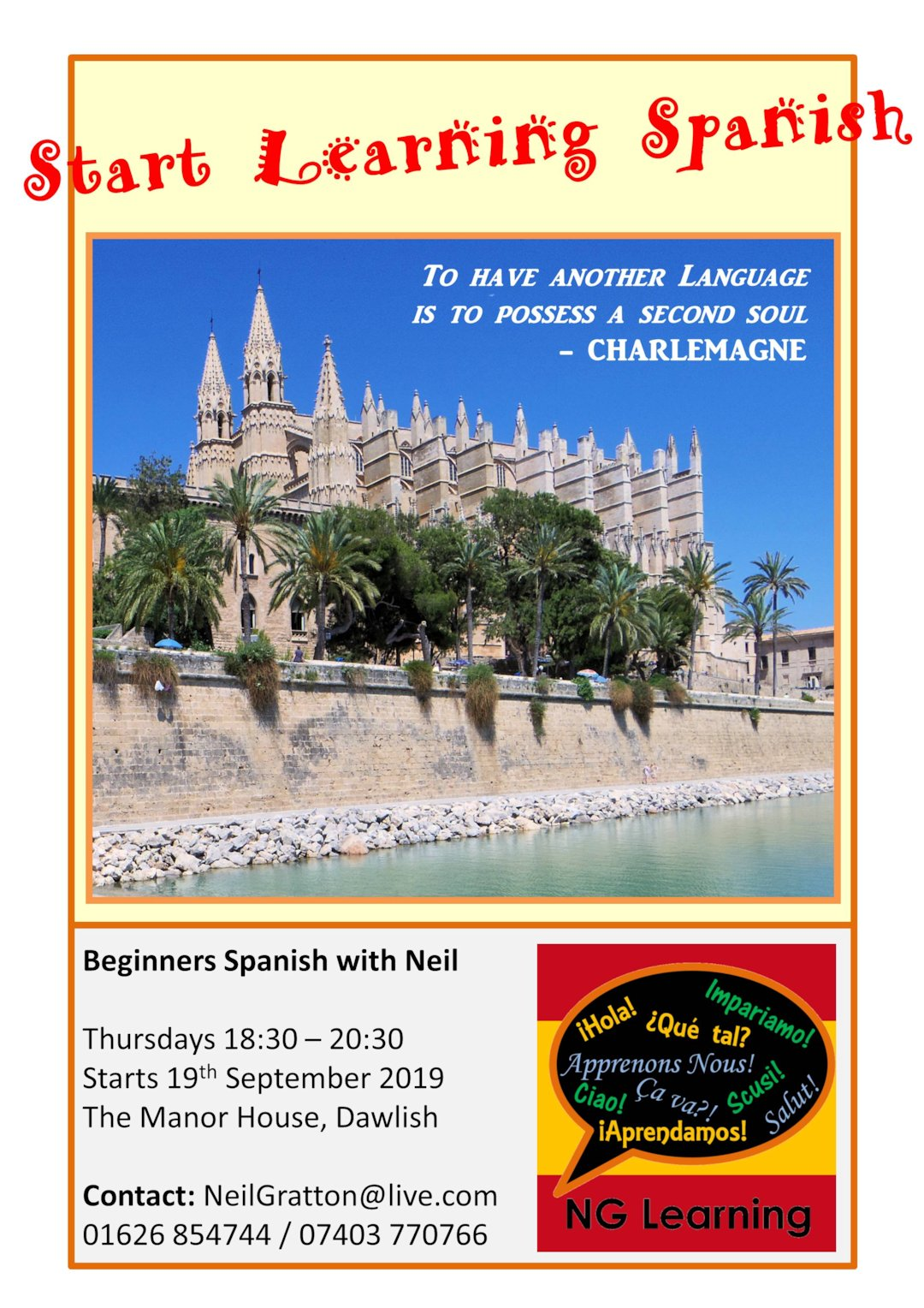 Poster Thursday Evening Spanish Dawlish