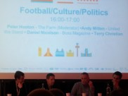 Football/Culture/Politics with Peter Hooton, Andy Mitten, Terry Christian, Daniel Nicholson. 2nd May 2014. Liverpool Hilton.