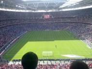 First game at the new Wembley Stadium.
