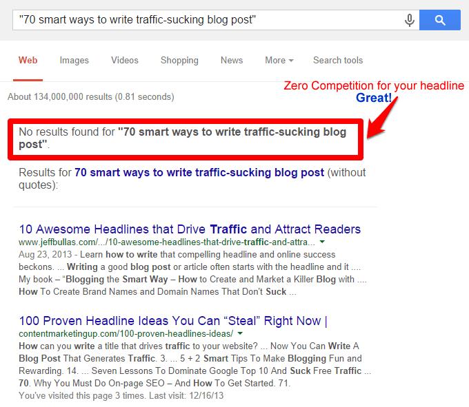 Google headline zero