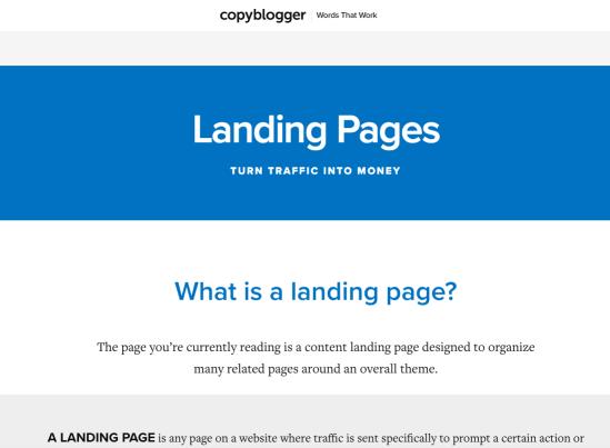 advanced SEO techniques copyblogger landing page example