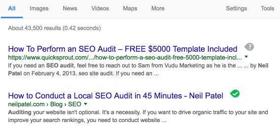 Advanced SEO techniques articles that rank well examle