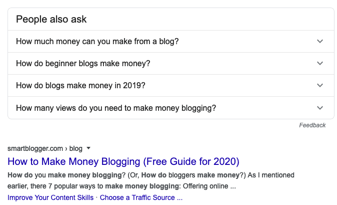 advanced SEO techniques people also ask