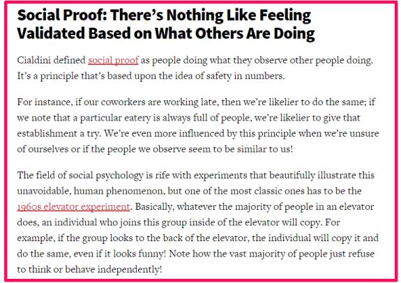 conversion XL social proof excerpt