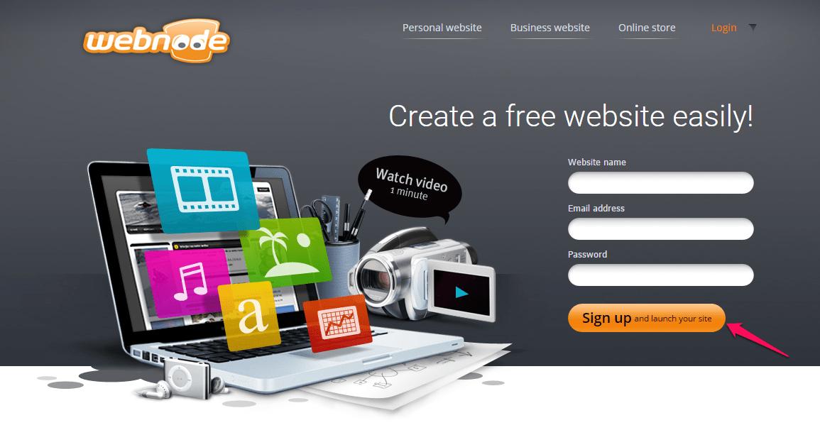 webnode example