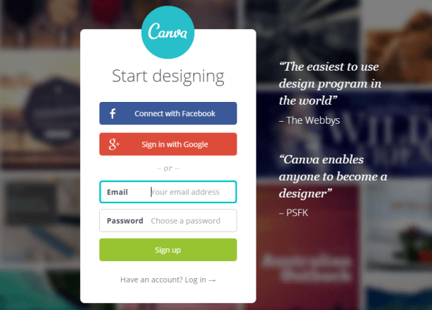 Canva graphic design program