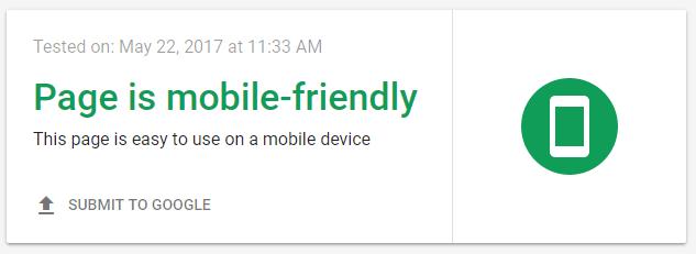 improve google rankings - mobile friendly test.