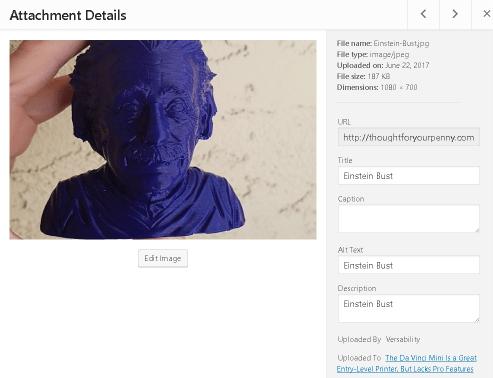 Wordpress Image meta tags