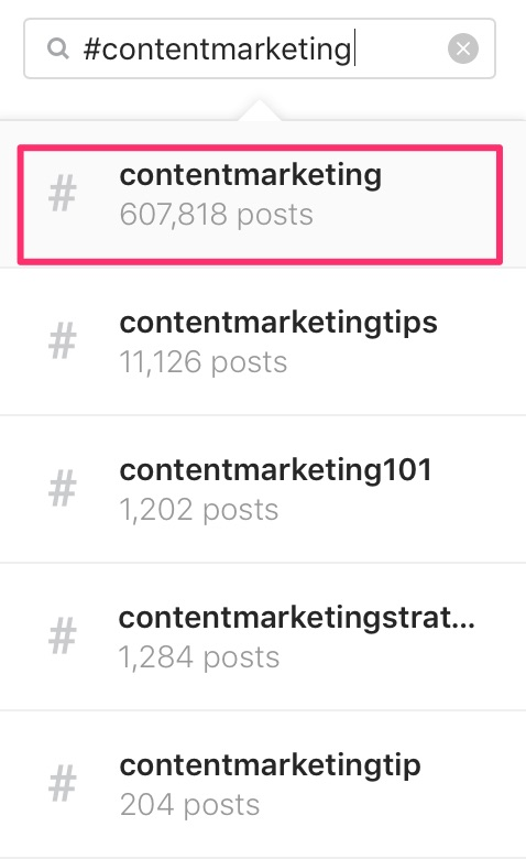 contentmarketing foto e video di Instagram 1