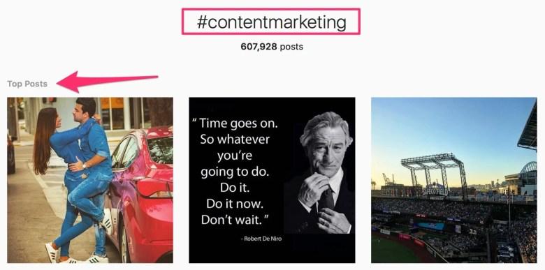 contentmarketing foto e video di Instagram