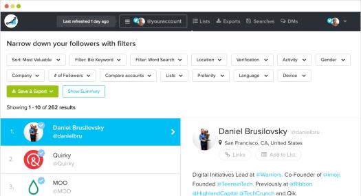 social rank instagram analytics tool screenshot