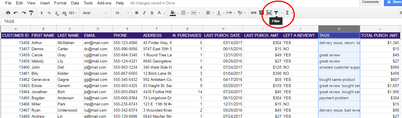 Simple Excel Spreadsheet Examples