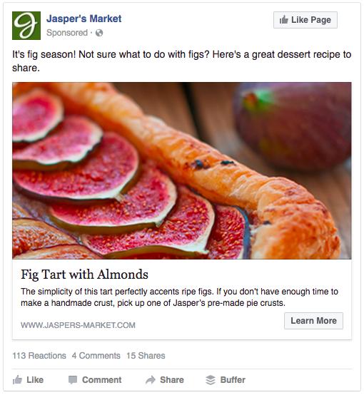 retargeting strategies - example of a Facebook retargeted ad