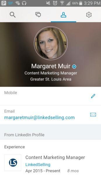 get verified on social media LinkedIn example