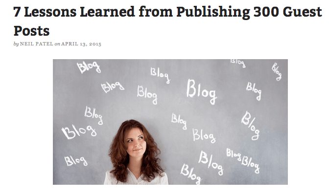 7 Lessons Learned from Publishing 300 Guest Posts