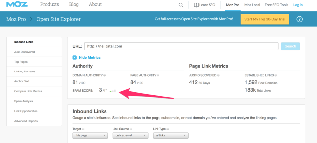 Arc and Open Site Explorer Link Research Backlink Checker Moz