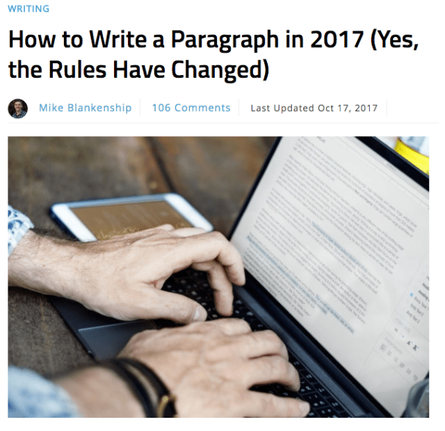 How to Write a Paragraph in 2017 Yes the Rules Have Changed Smart Blogger