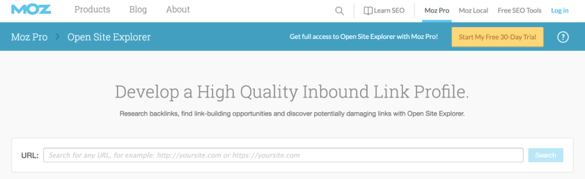 Open Site Explorer Link Research Backlink Checker Moz