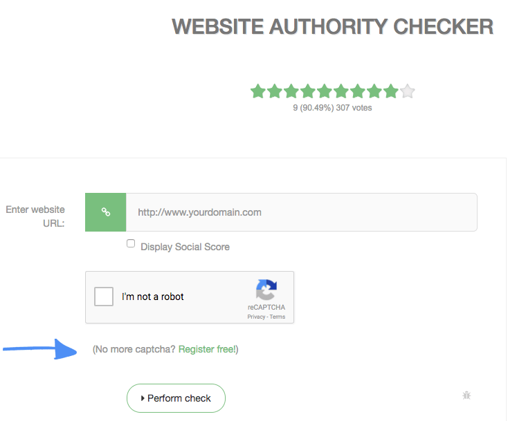 Website Authority Checker PR DA PA MOZ Backlinks