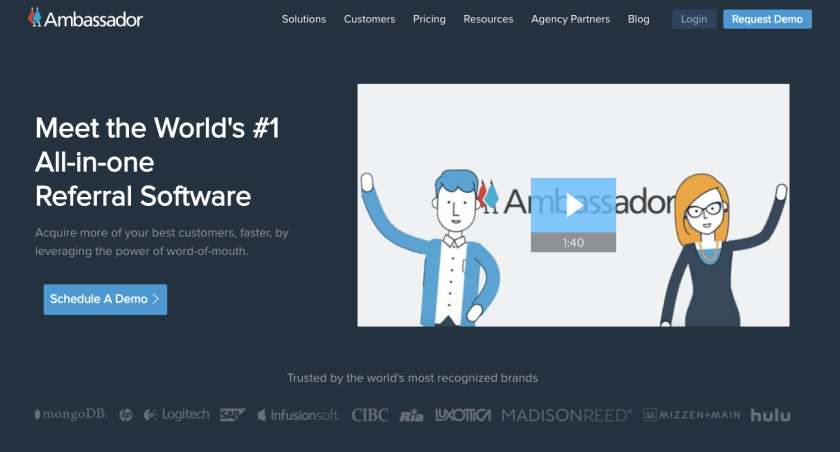 1 Referral Software by Ambassador World Class Referral Programs