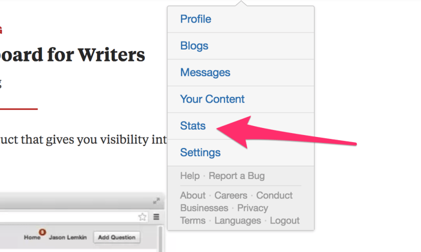 Arc and Introducing Stats A Dashboard for Writers The Quora Blog Quora