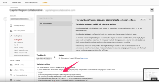 Arc and how to install google analytics Google Search