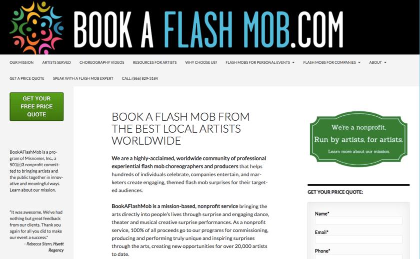 Book A Flash Mob For Hire Worldwide BookAFlashMob com