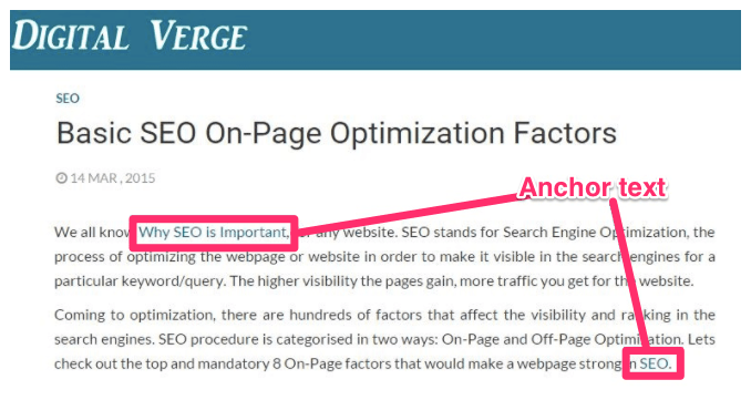 Importance of Anchor Text SEO Best Practices